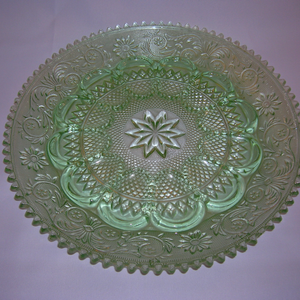 Sandwich Duncan and Miller Egg Plate in green
