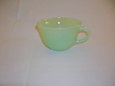 Fire-King Jade-ite cup-Alice Pattern