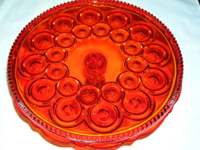 Moon and Star Cake Plate-Flame