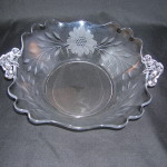 Central Glass Works Deco Fan #148 Bowl