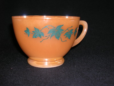 Fire King Peach Lustre Punch Cup