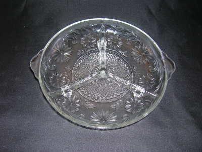 Indiana Glass Daisy Pattern Relish