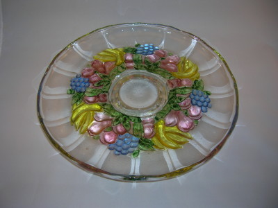 Indiana Glass Garland Cake Plate