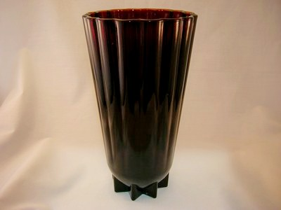Vintage Royal Ruby Glass Vase Old Time Glass