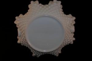 Fenton Hobnail Milk Glass Basket