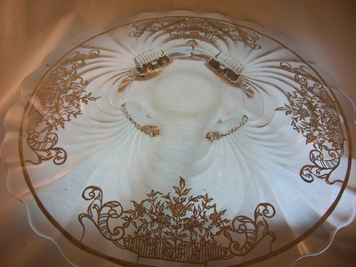 Cambridge Glass Caprice Footed Plate Old Time Glass