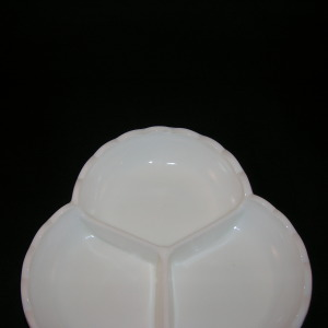 Fenton Hobnail Milk Glass Relish