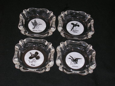 Vintage Ashtray Set-Game Birds