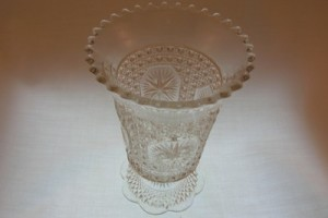 Imperial Glass Amelia Star Medallion Vase