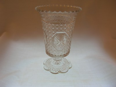 Imperial Glass Amelia Star Medallion Celery Vase