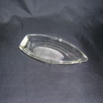 Vintage Glass Boat ashtray