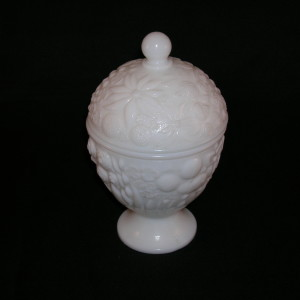 Avon Milk Glass Candy Dish