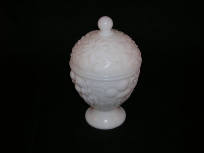 Vintage Avon Milk Glass Candy Dish
