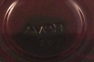 Avon Cape Cod Collection wine stem Avon mark close up