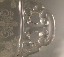 Cambridge Rose Point cake plate handle