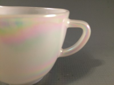 Federal Glass Moon Glow Creamer Old Time Glass