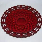 Fentont Baskete Weave ruby plate