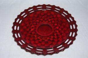 Fentont Baskete Weave ruby plate