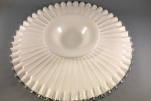 Fenton Silver Crest low cake stand bottom view