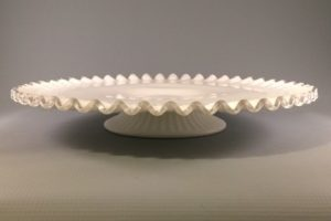 Fenton Silver Crest low cake stand side view