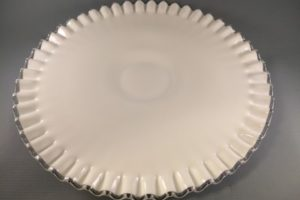 Fenton Silver Crest low cake stand top view