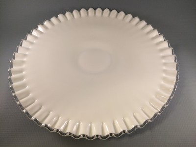 Fenton Silver Crest Low Cake Stand