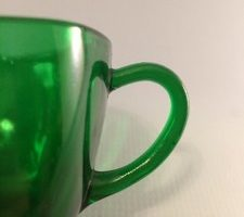 Forest Green Charm pattern creamer handle