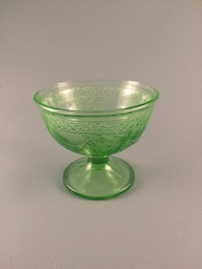 Georgian Lovebirds Depression Glass Sherbet