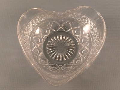 Imperial Cape Cod Glass Bowl Heart Shaped