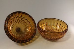 Indiana Glass candy box lid and bowl inside view