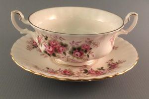 Lavender Rose bouillon cup Royal Albert