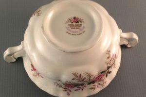 Lavender Rose bouillon cup Royal Albert back stamp