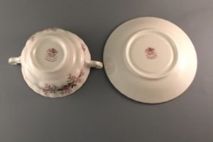 Lavender Rose bouillon cup and saucer bottom view