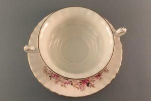 Lavender Rose bouillon cup Royal Albert top view