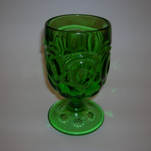 Moon and Stars goblet in green
