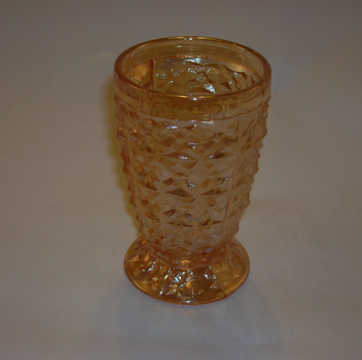 Depression glass tumbler-Holiday