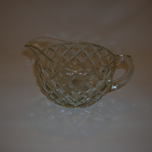 Depression Glass Creamer-Waterford