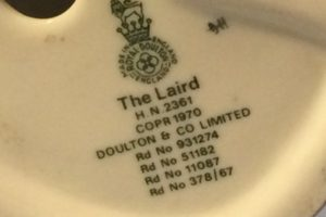 Royal Doulton The Liard HN2361 figurine back stamp