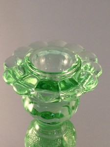 Tiara Exclusives Sandwich candlestick cup close up