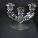 Tiffin Glass Candlestick-Williamsburg
