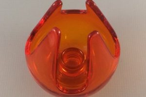 Viking Glass Epic candle cup in Persimmon