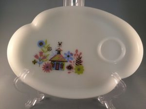 Vintage Federal Glass snack tray Chalet