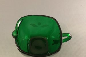 Vintage Forest Green Charm creamer top view