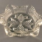 Vintage glass ashtray-Star in Star-Hazel Atlas