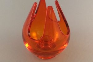 Vintage Viking Glass candle cup