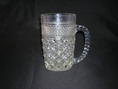 Anchor Hocking Wexford Oil Lamp Old Time Glass