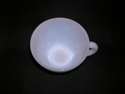 Preferred Fire King milk glass cup-Bonnie Blue - Old Time Glass EM87