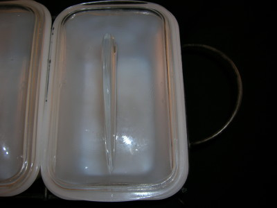 Glasbake Loaf Pan And Rack Set Old Time Glass